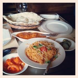 Indian food at Namaste