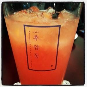 Grapefruit ade at Cafe Hooamdong