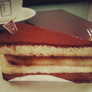 Tiramisu cake at Cafe Hooamdong