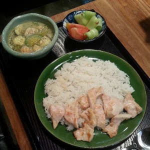 Green Curry Chicken Set at Eunmilhan Babsang