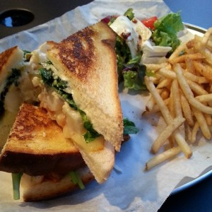 Grilled cheese lobster sandwich at the Lobster Bar in Itaewon