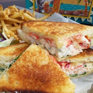 Grilled Cheese Lobster Sandwich at the Lobster Bar