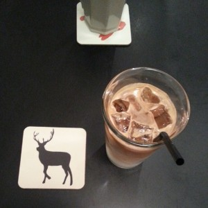 Iced latte at Kafe Nordic