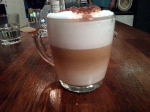 Latte Macchiato with Espresso