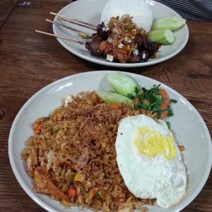 Nasi Goreng and Sate Kambing