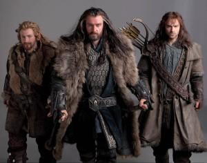 Thorin, Fili, and Kili