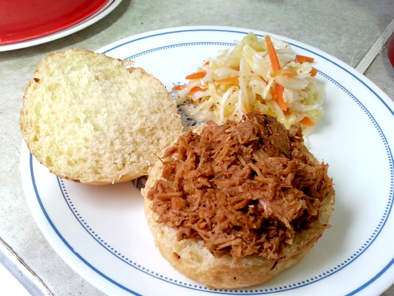 Slow Cooker Pulled Pork with Coleslaw