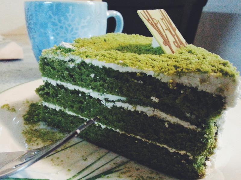 Green Tea Cake from Tous les Jours