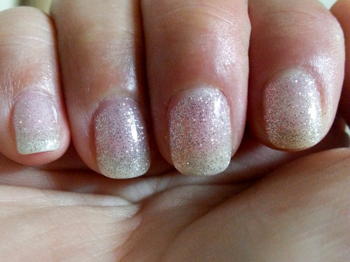 Glittery Gel Manicure