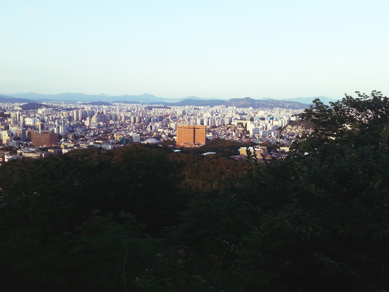 View from Namsan Mountain