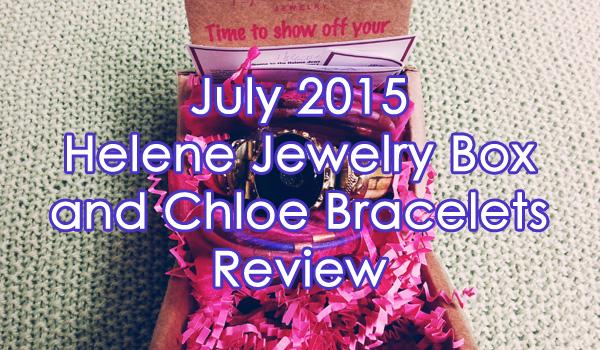 July 2015 Helene Jewelry Box Review