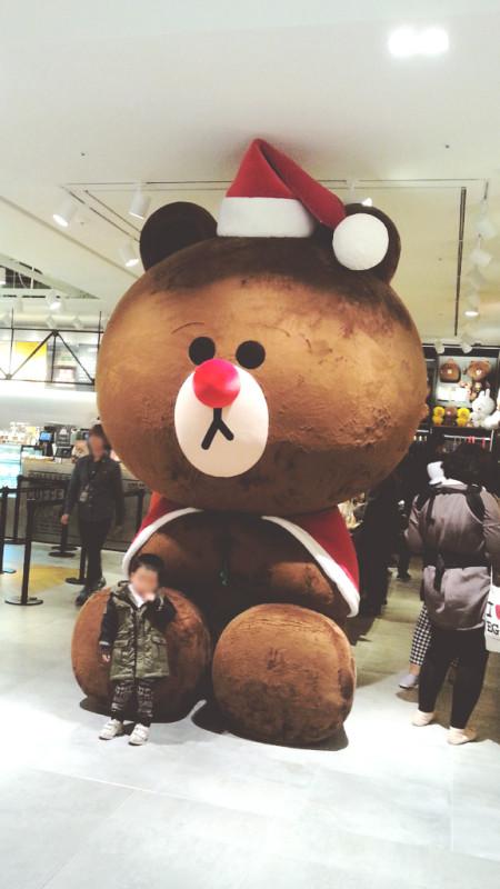 Gigantic Holiday Bear at Hyundai Department Store in Pangyo