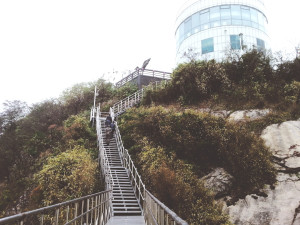 The Stairs to Sokcho Lighthouse Observatory