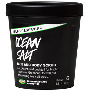 Lush's Ocean Salt Self-Preserving Face and Body Scrub