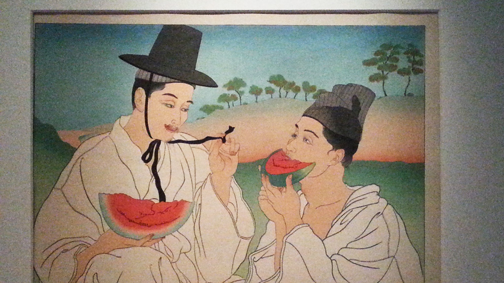 Painting at the National Museum of Korea
