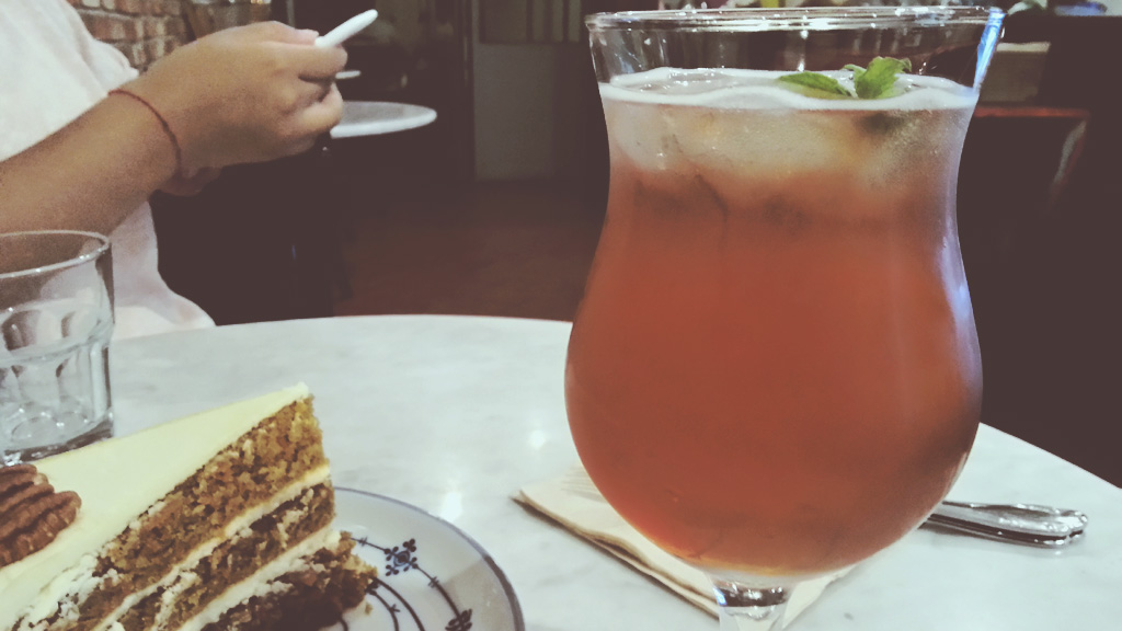 Lavender and Chamomile Kombucha at Fat Cat