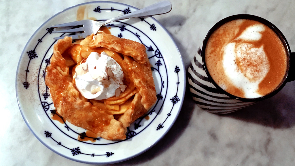 Apple Galette and Pumpkin Spice Latte