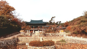 View of Wontongbojeon and a Pond