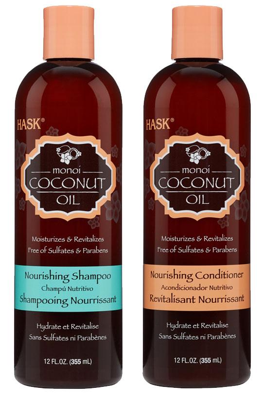 Hask's Monoi Coconut Oil Shampoo and Conditioner