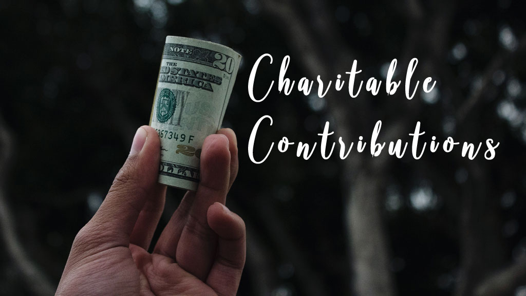 Charitable Contributions (Original image from Unsplash.com)