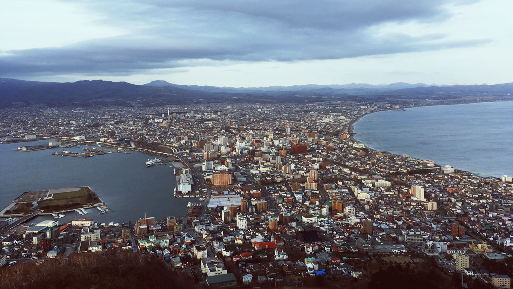 View from Mt Hakodate