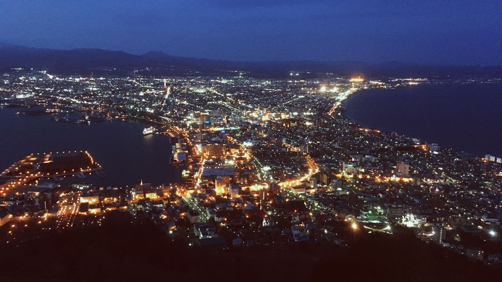 Night View from Mt Hakodate