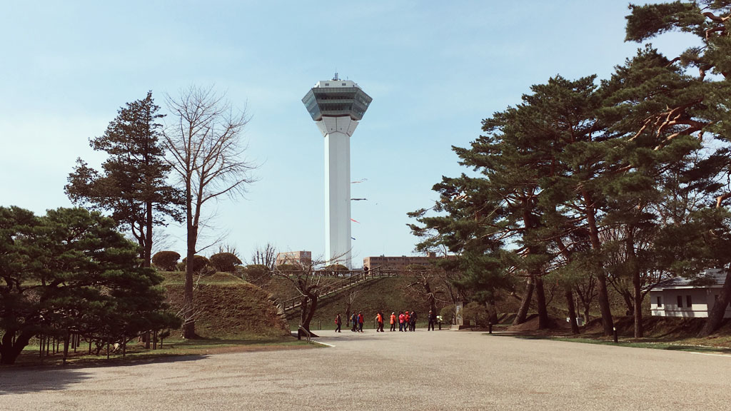 The View of Goryokaku Tower from Hakodate Magistrate's Office