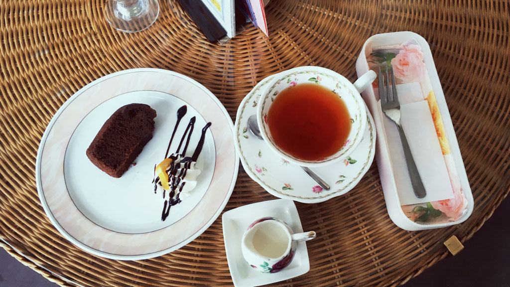Cake and Tea Set at Victorian Rose