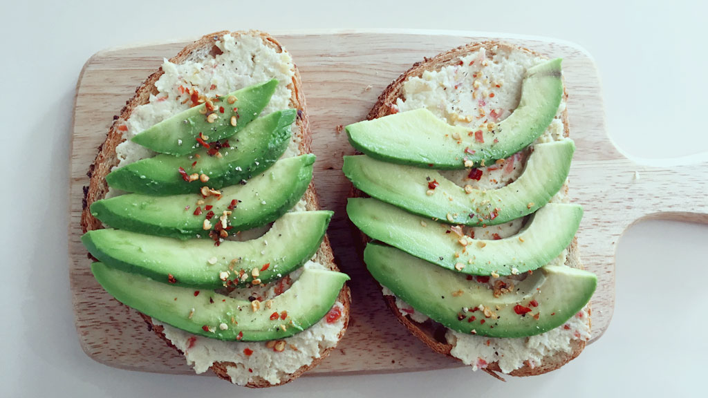 Avocado and Hummus Toast