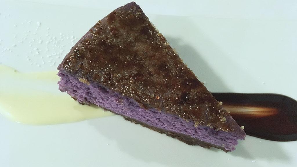 Taro Cheesecake at Proa