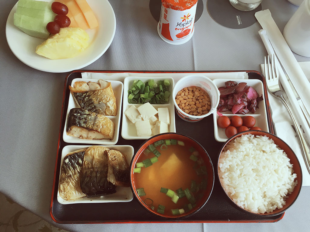Japanese Breakfast Room Service