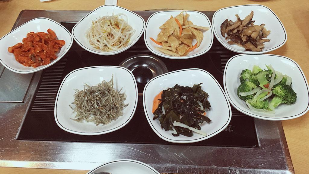 Banchan at Chung Gi Wa