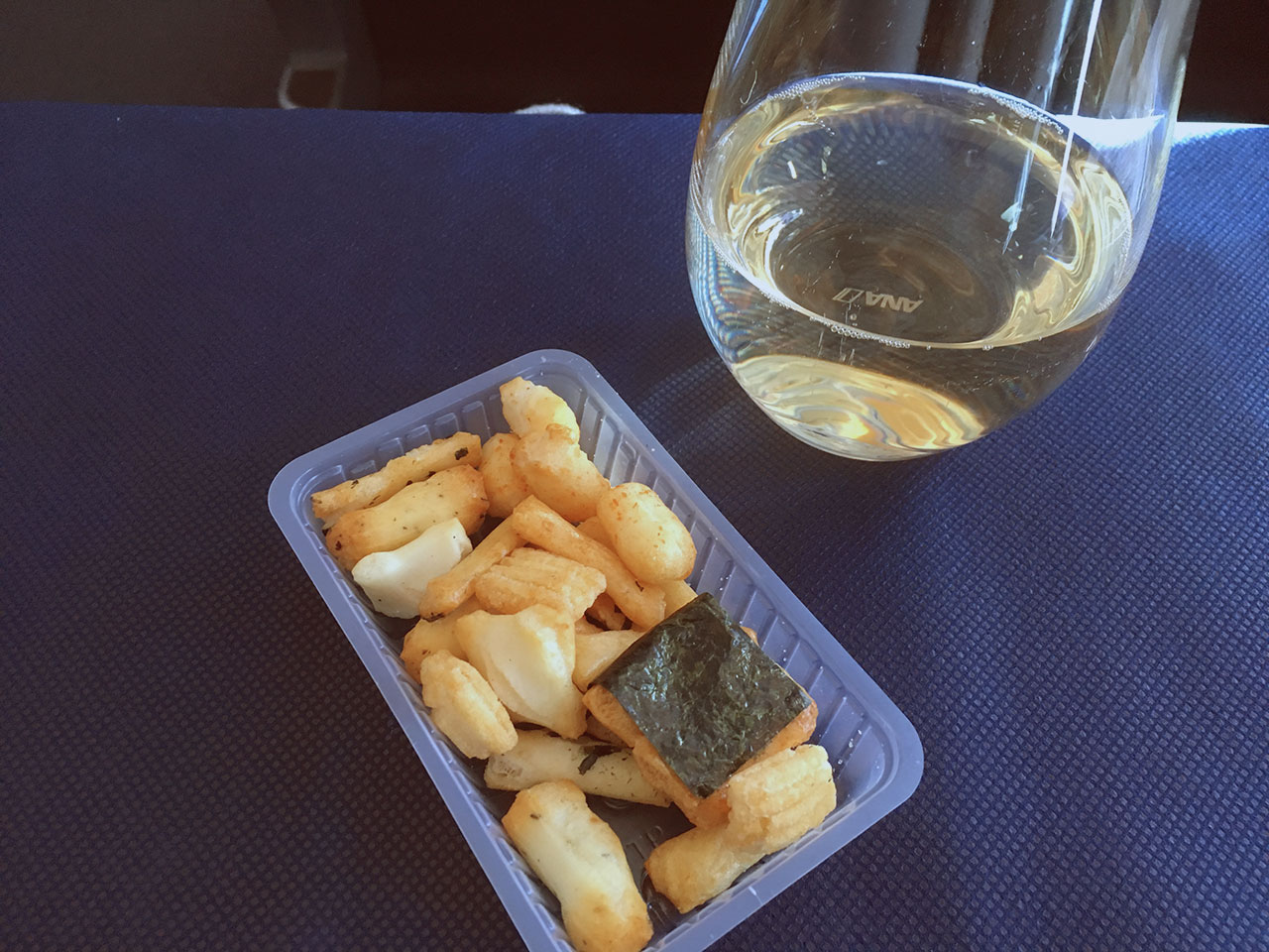 Champagne and Rice Crackers