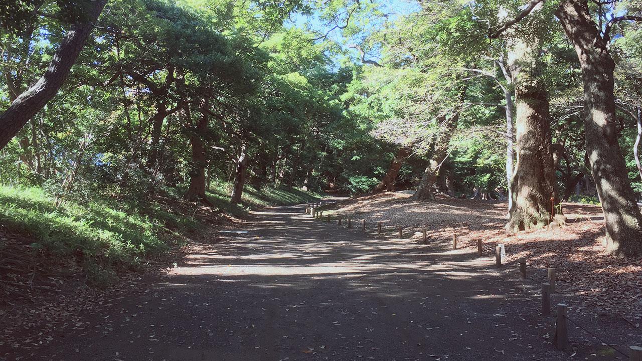 At Hama-rikyu Gardens